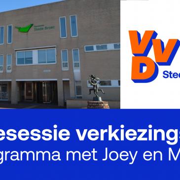 Lokale VVD in gesprek over verkiezingsprogramma